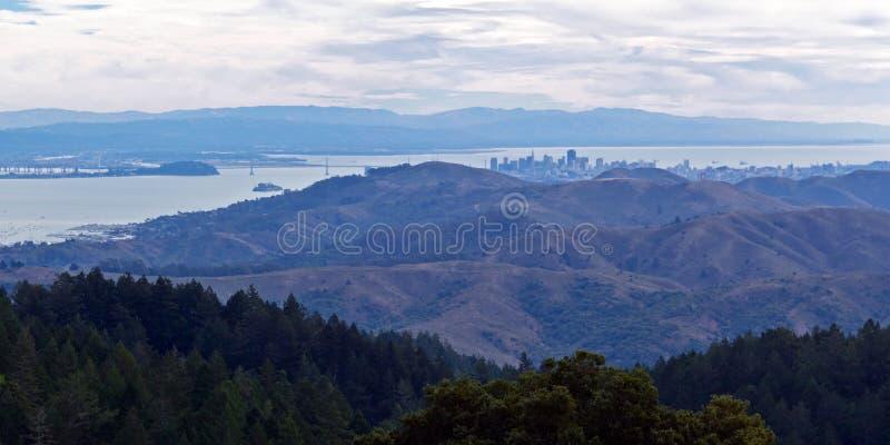 Verre mening van San Francisco stock foto's