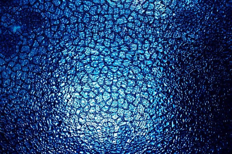 Verre mou bleu pour la texture ou le fond images libres de droits