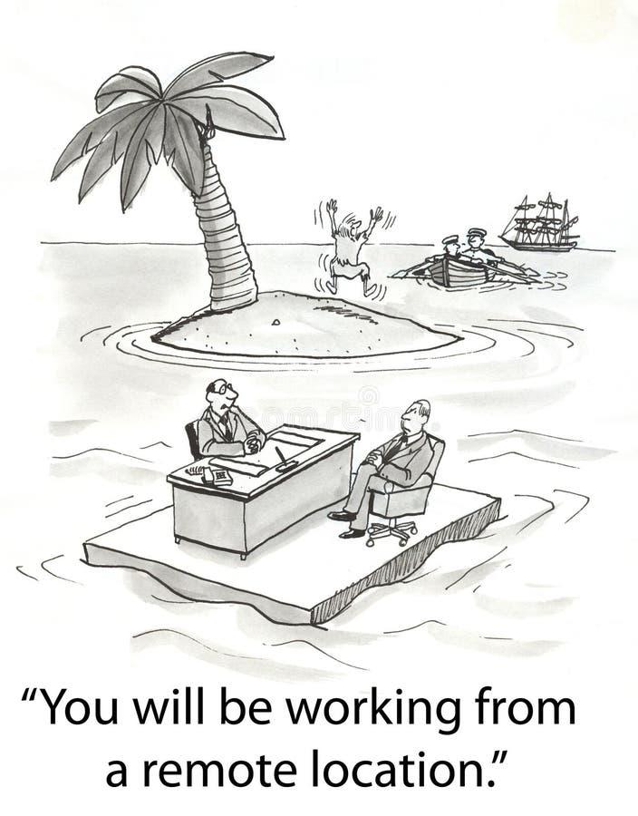 Verre plaatsarbeider royalty-vrije illustratie