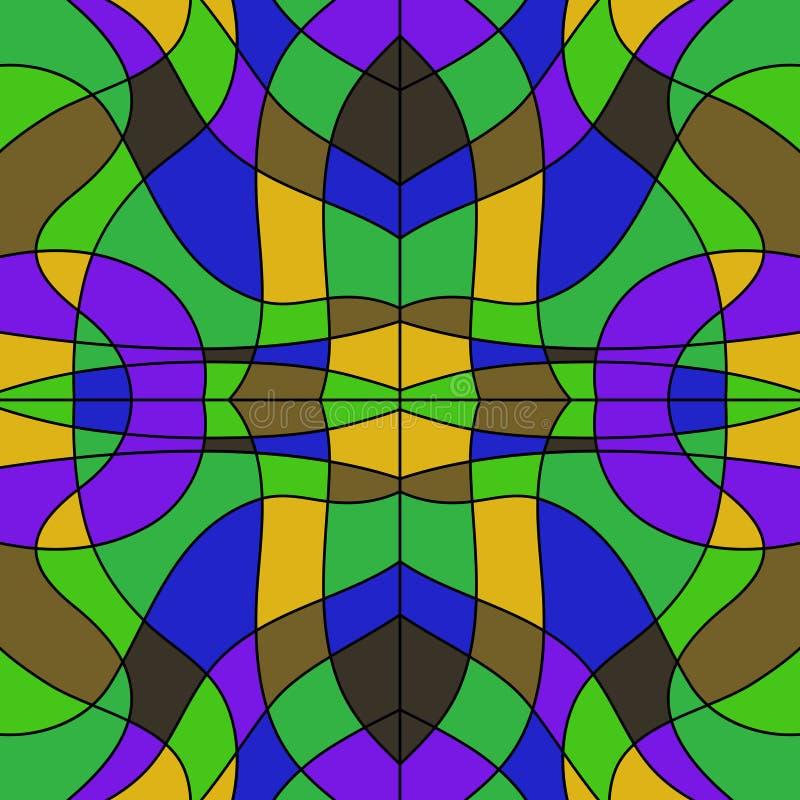 Verre souillé coloré par résumé - mosaïque de fond illustration de vecteur