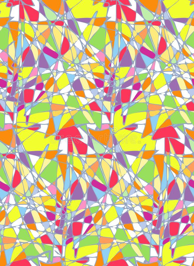 Verre souillé coloré par résumé sans couture de modèle de vecteur illustration de vecteur