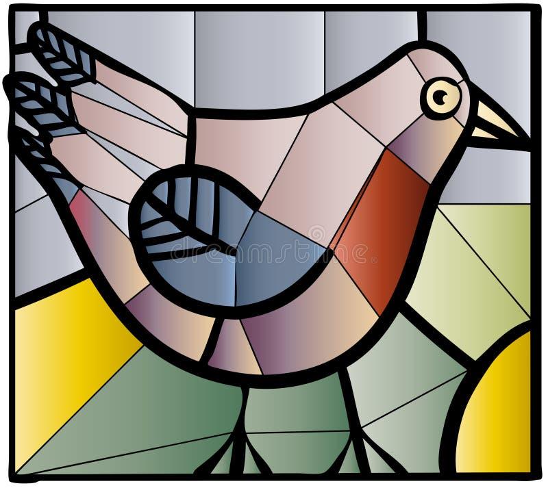 Verre souillé d'oiseau illustration de vecteur