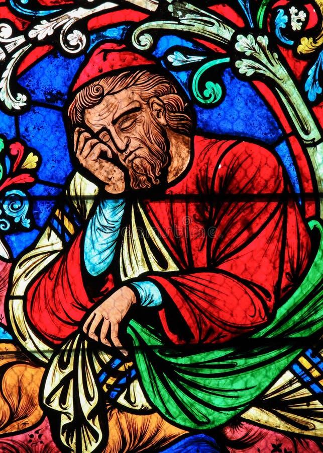 Verre souillé - Jesse, père du Roi David images stock
