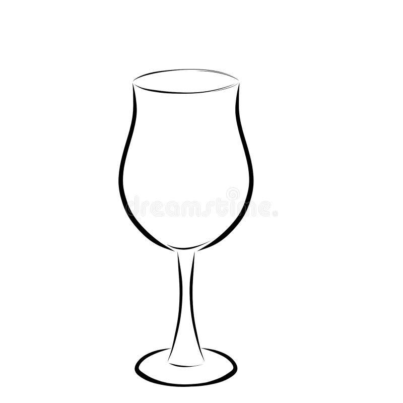Verre sur la jambe élevée, pour les boissons alcoolisées illustration stock