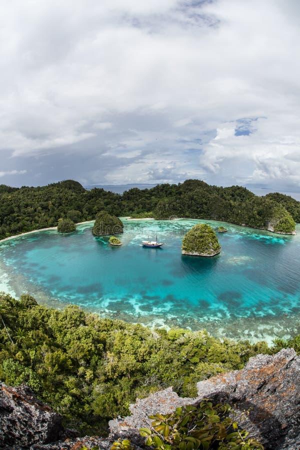 Verre Tropische Lagune 2 royalty-vrije stock foto