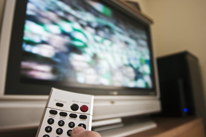 Verre TV royalty-vrije stock afbeeldingen