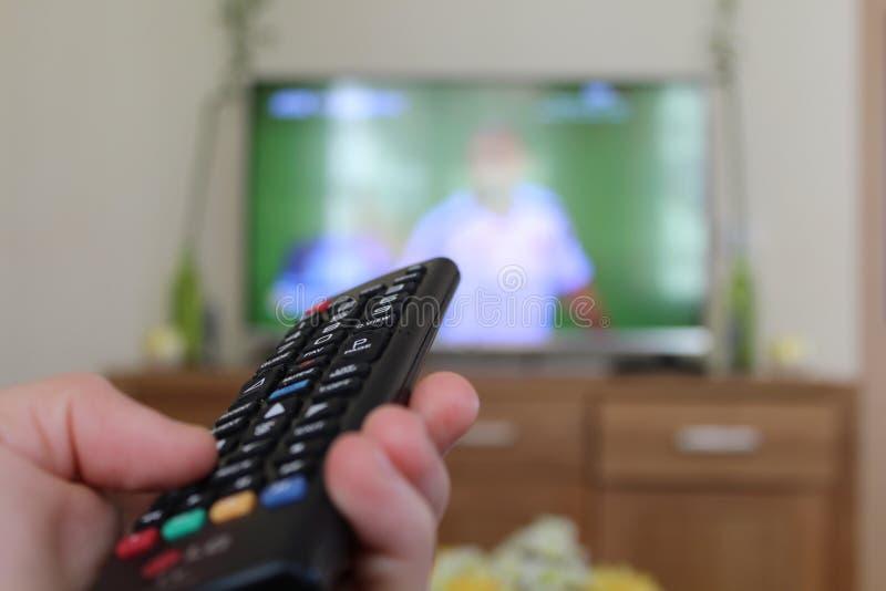 Verre TV royalty-vrije stock afbeelding