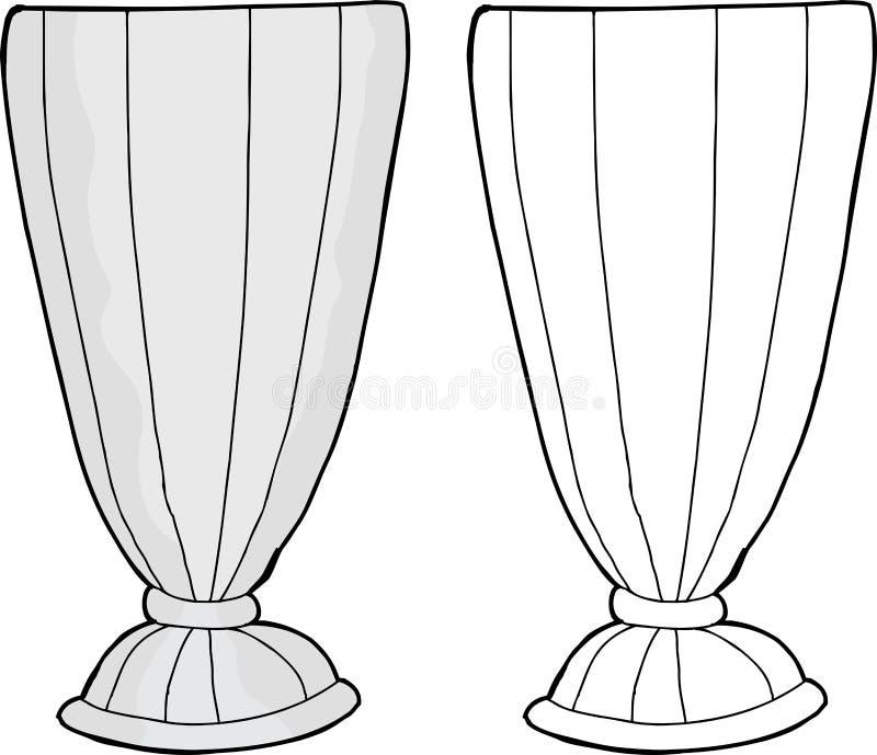 Verre vide de milkshake illustration de vecteur