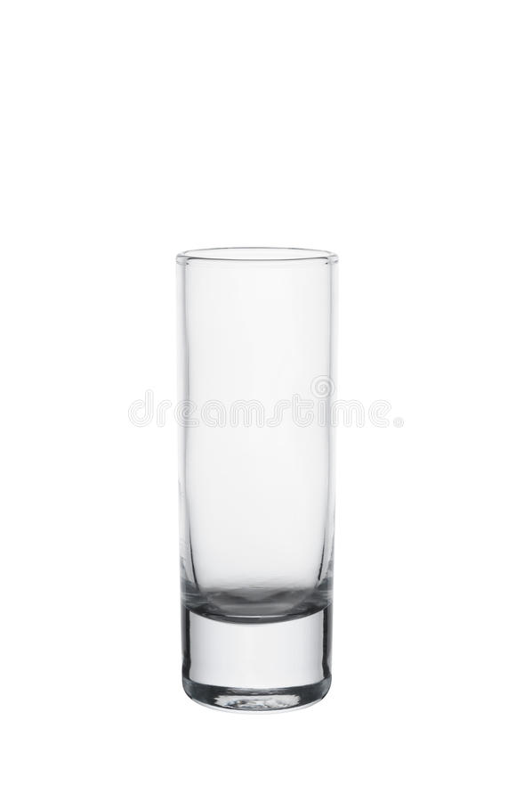 Verre vide de vodka photo libre de droits