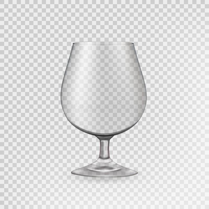 Verre vide pour les boissons alcoolisées, verre transparent Vecteur illustration stock