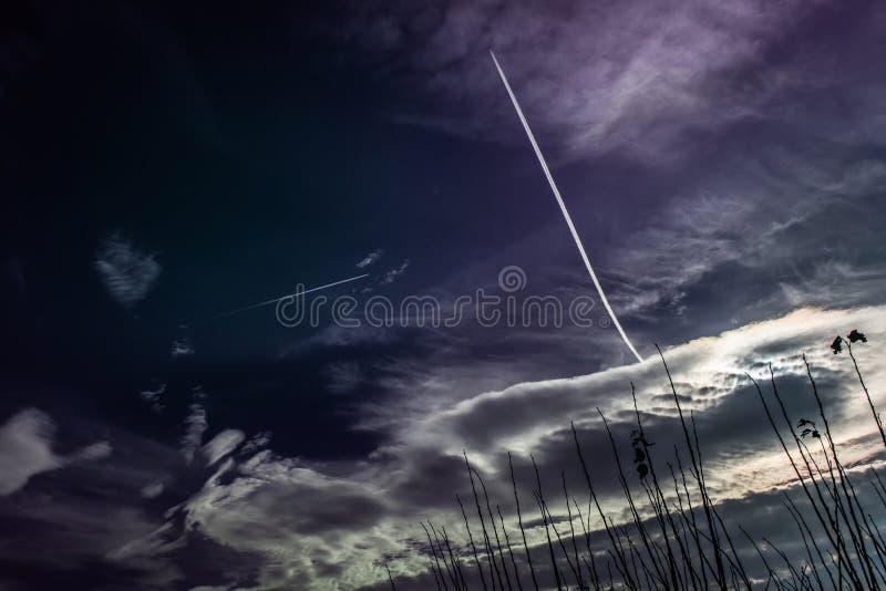 Verre vluchten stock afbeeldingen