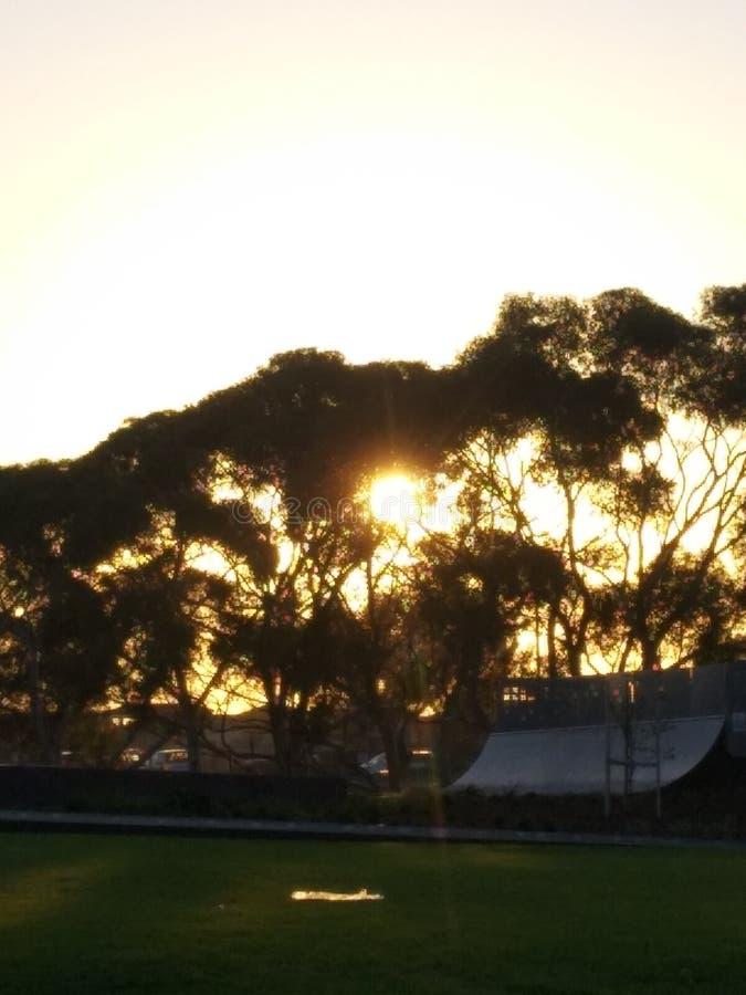 Verre zonsondergang stock foto's