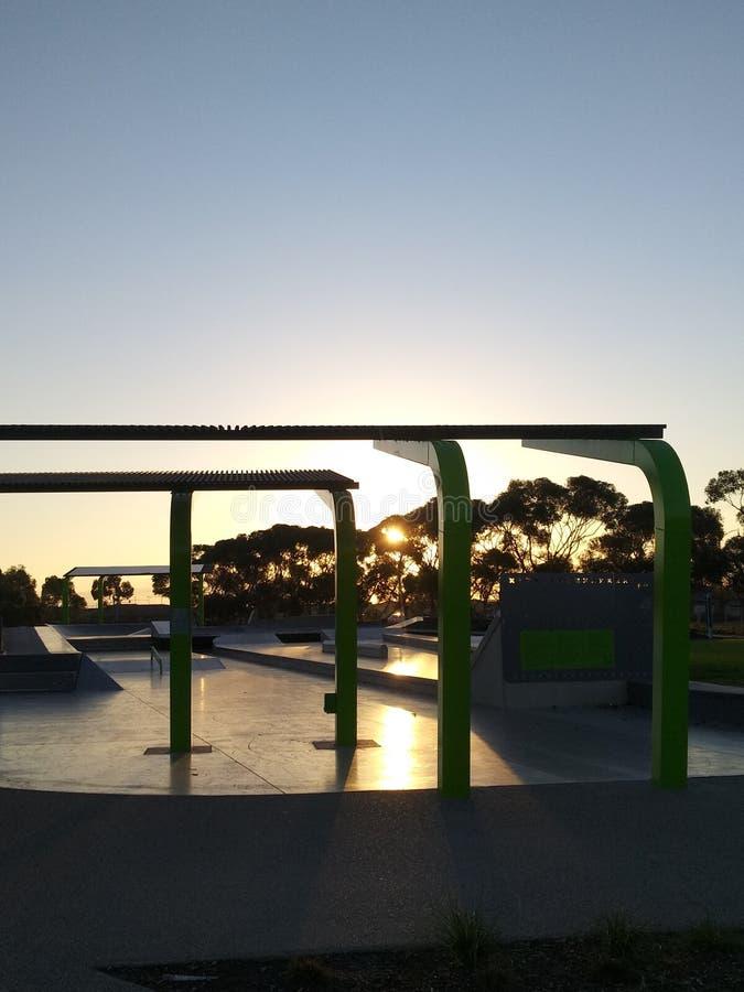 Verre zonsondergang stock afbeeldingen