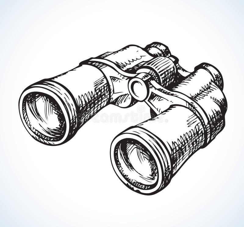 verrekijkers Vector tekening stock illustratie