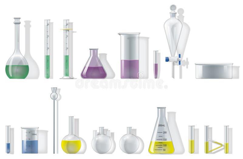 Verrerie de chimie illustration de vecteur