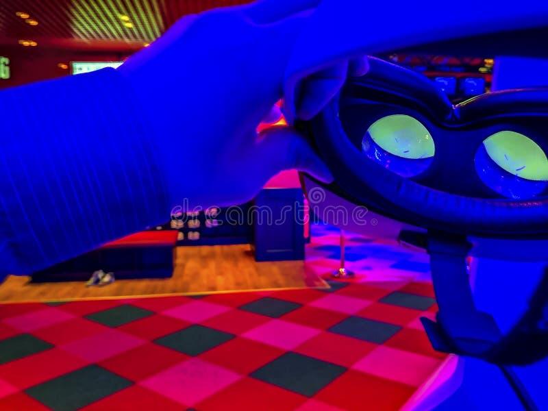 verres 3D dans le cinéma photo libre de droits