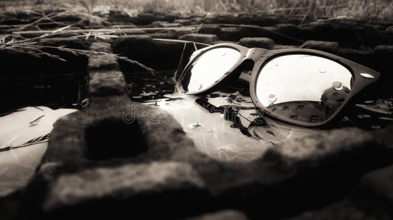 Verres dans l'eau magique photographie stock libre de droits
