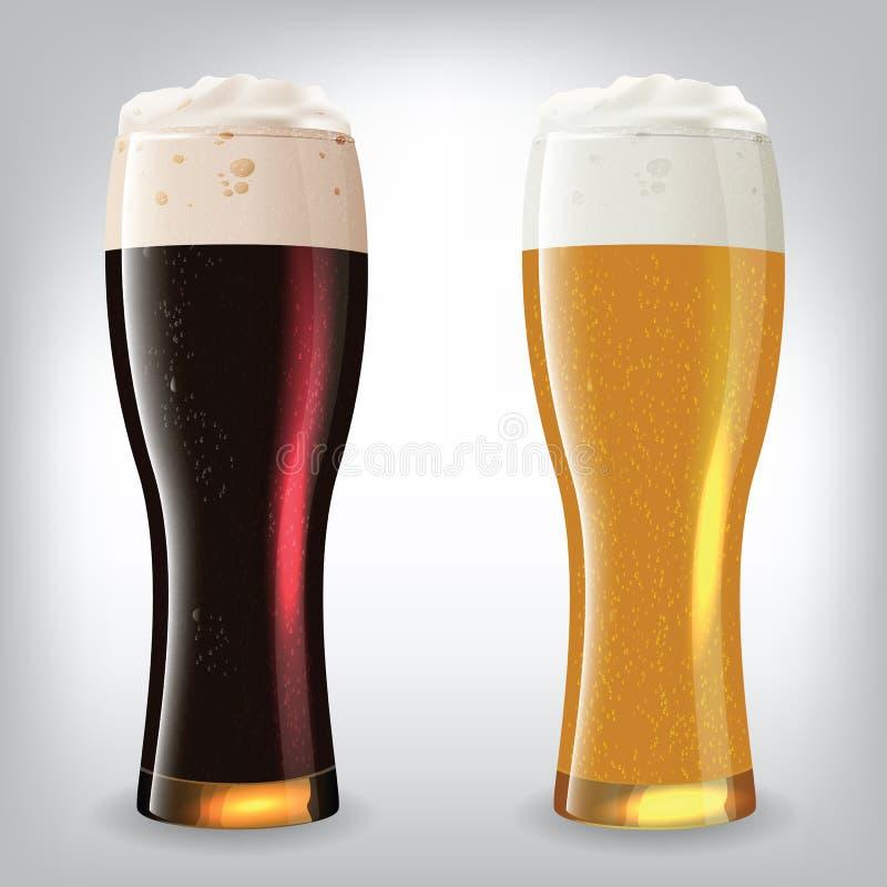 Verres de bière illustration libre de droits