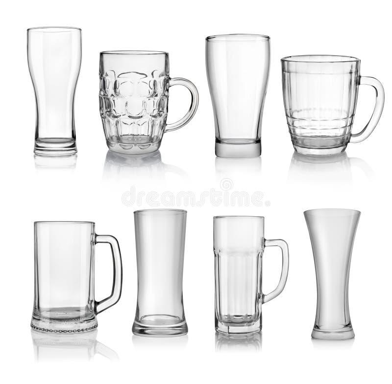 Verres de bière image stock