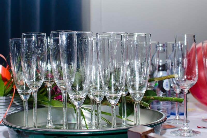 Verres de champagne photo libre de droits