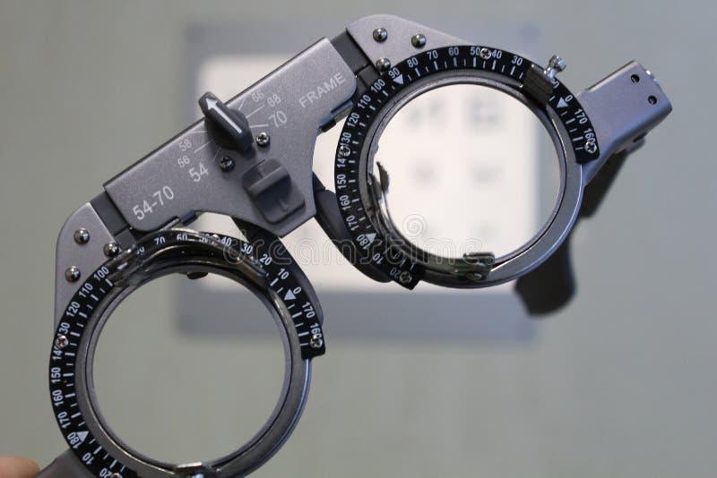 Verres de contrôle d'acuité visuelle images libres de droits