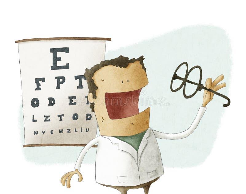 Verres de prise d'ophtalmologue illustration libre de droits