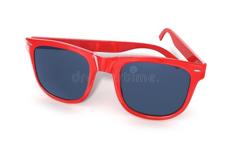 Download Verres de soleil rouges image stock. Image du yeux, noir - 56479723