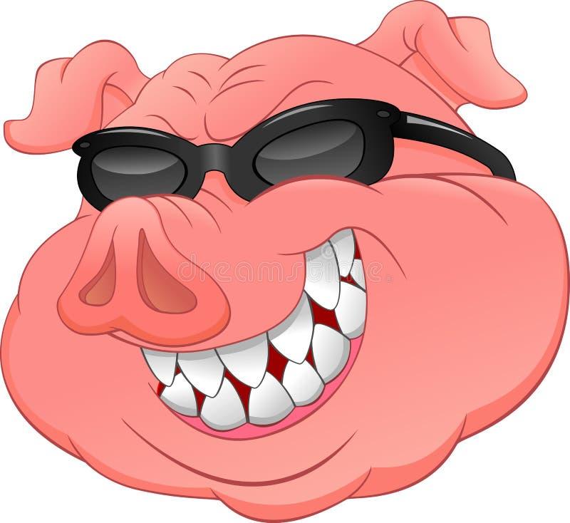 Verres principaux d'usage de porc illustration stock