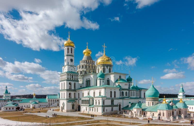 Verrijzeniskathedraal van het nieuwe klooster van Jeruzalem, Rusland stock afbeeldingen
