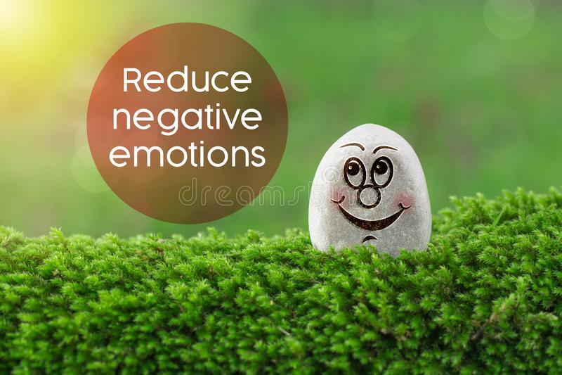 Verringern Sie negative Gefühle lizenzfreies stockbild