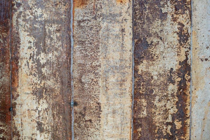 Verrostet auf Oberfläche des alten Eisens, Verschlechterung des Stahls, D lizenzfreies stockfoto
