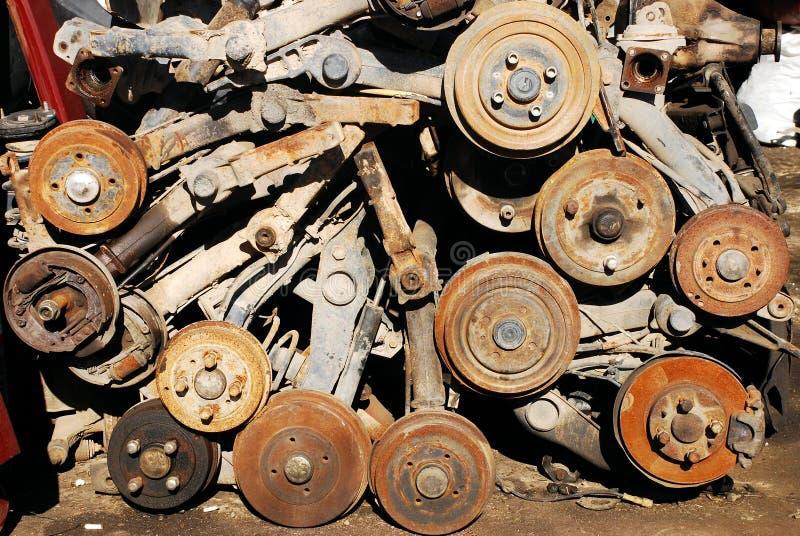 Verrostete Fahrzeug-Teile stockbild