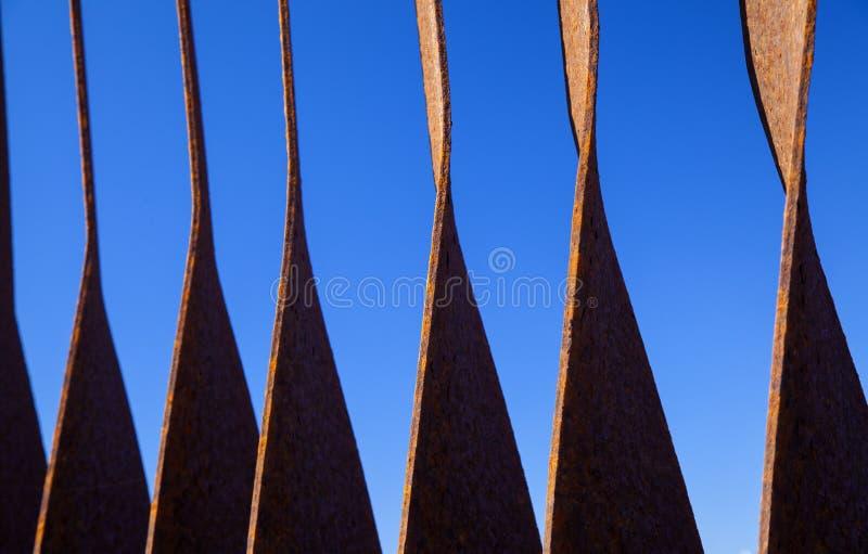 Verrostete Streifen des Eisens stockfotos