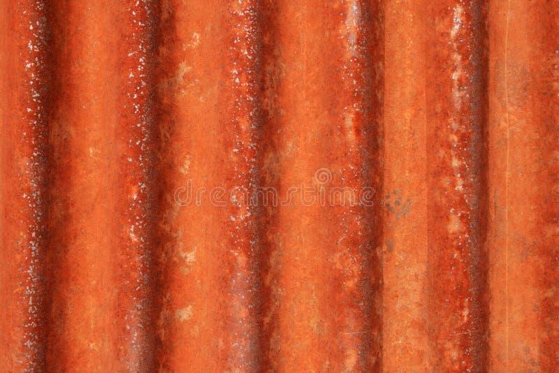 Verrostetes gewölbtes Metall lizenzfreies stockbild