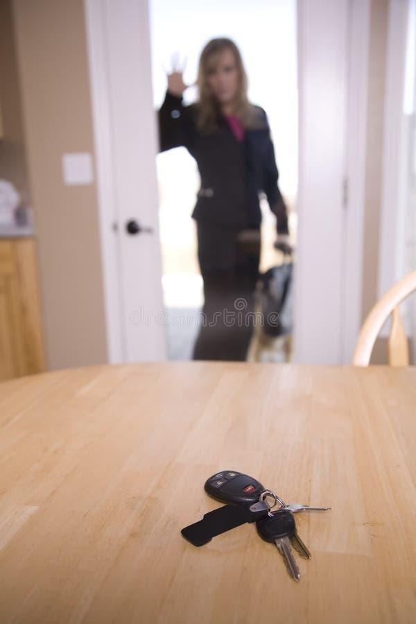 Verrouillé hors de la maison photo libre de droits