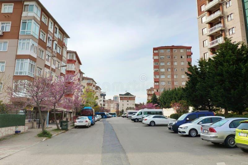 Verrouillage dû au coronavirus Les rues désertes alors que la Turquie commence à fermer ses portes le week-end image libre de droits