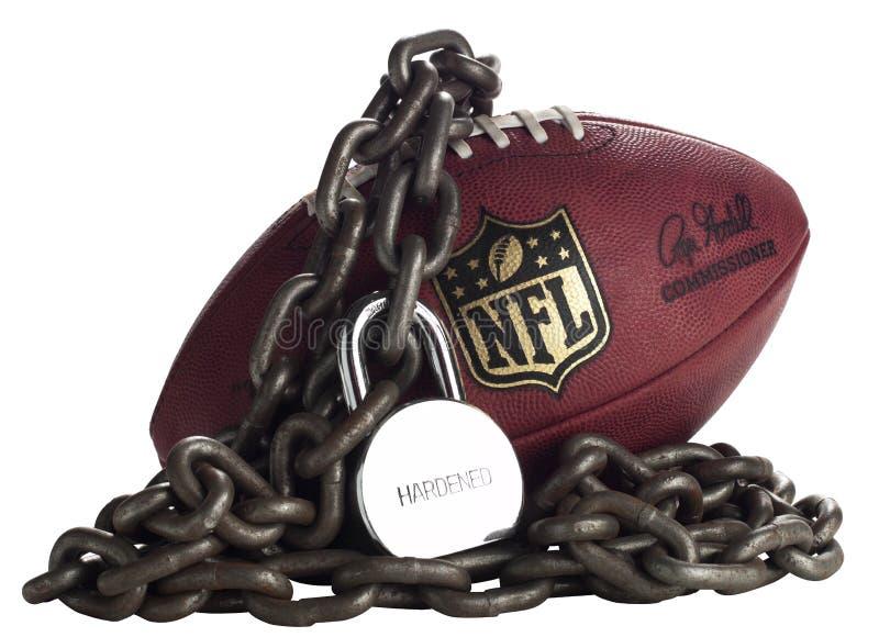 Verrouillage de NFL - blanc de studio photographie stock libre de droits