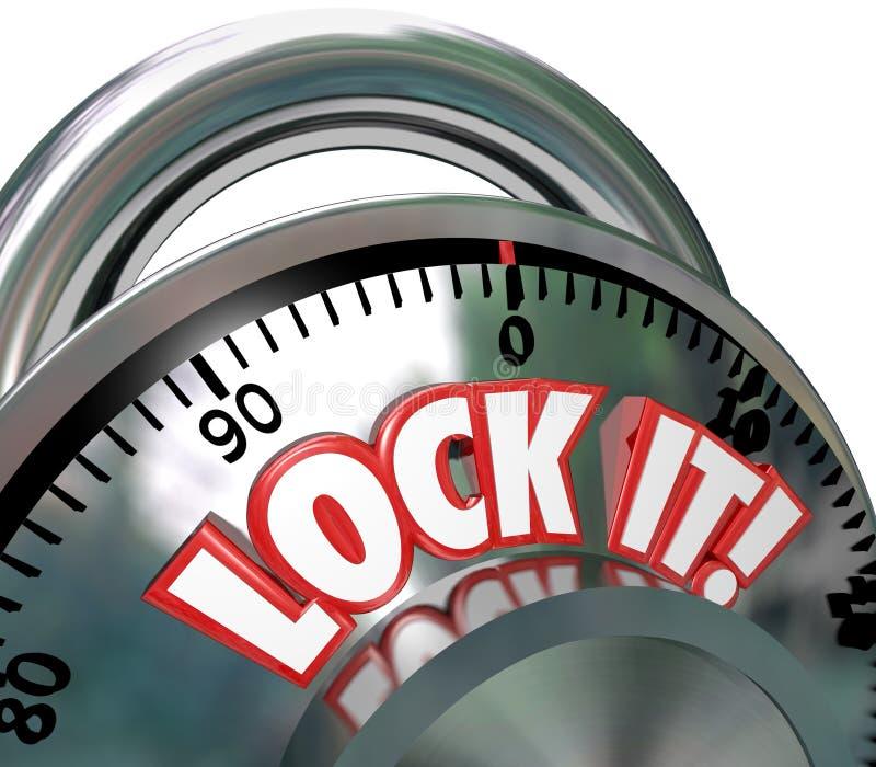 Verrouillez-la protection de degré de sécurité de blocage de combinaison illustration stock