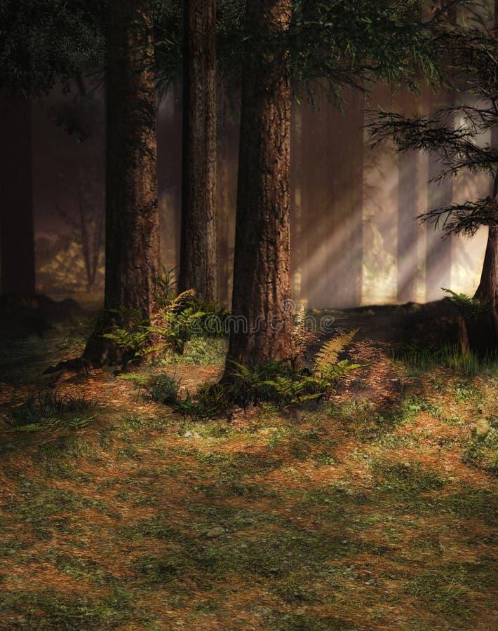Verrukt bos stock illustratie