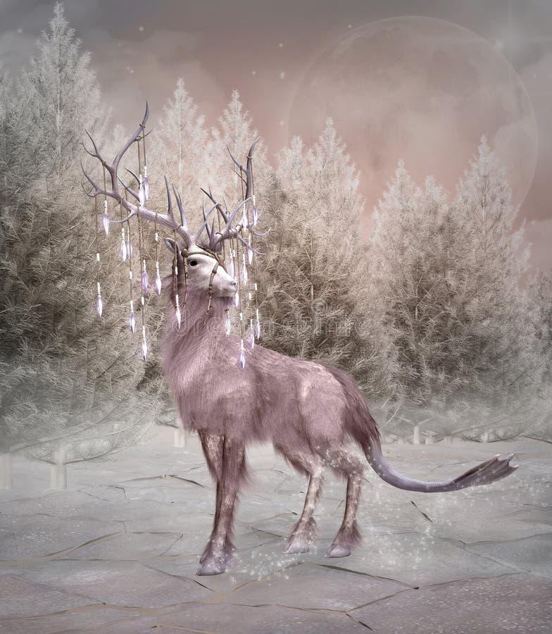 Verrukte elanden royalty-vrije illustratie