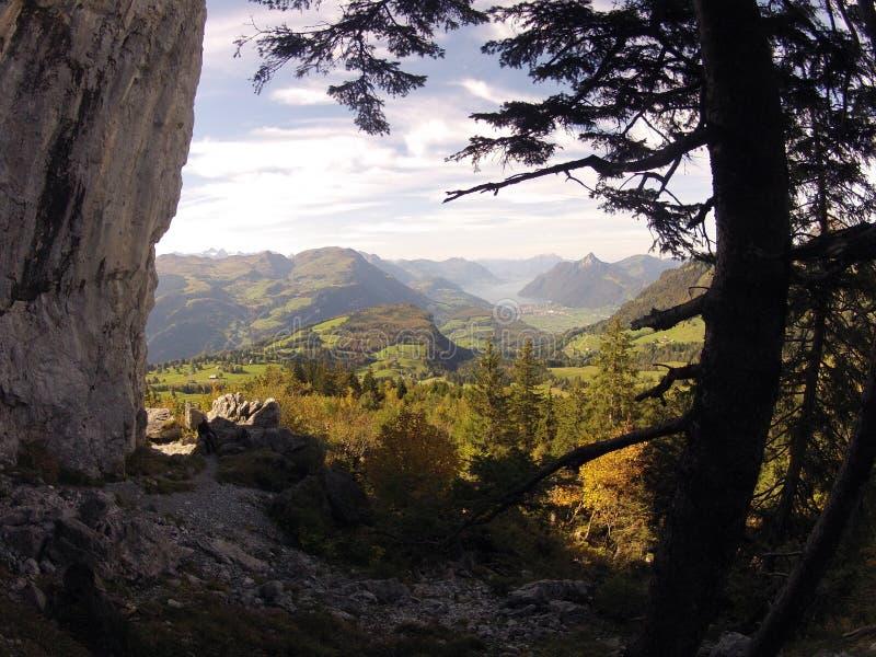 Verrukte groene heuvels royalty-vrije stock foto's