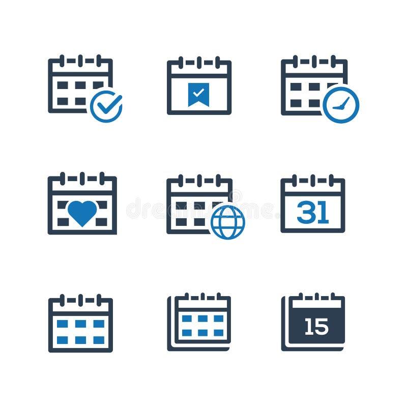 Versão azul do ícone do calendário da programação do evento ilustração royalty free