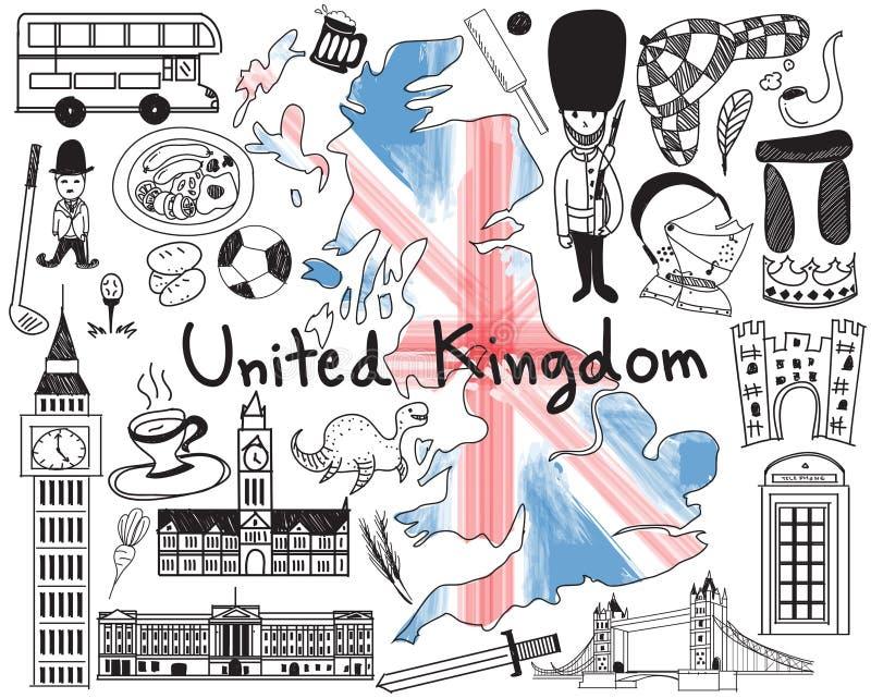 Versão da atualização - viaje a Reino Unido Inglaterra e a Escócia ilustração royalty free