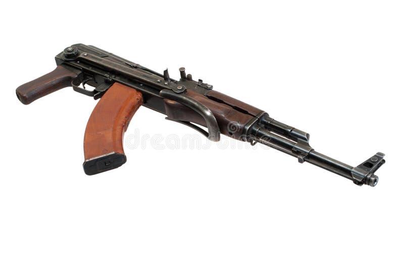Versão de Airborn da espingarda de assalto do Kalashnikov fotografia de stock royalty free