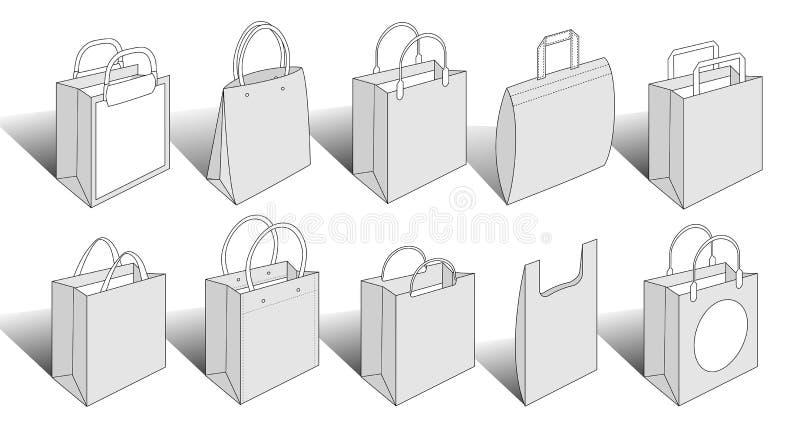 Versão de empacotamento 4 dos artigos fotografia de stock royalty free
