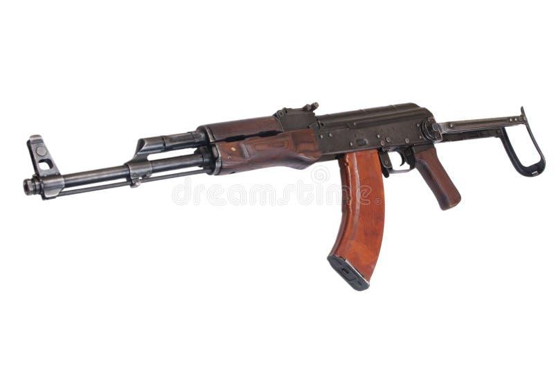Versão do airborn de AKMS (Avtomat Kalashnikova) da espingarda de assalto do Kalashnikov fotos de stock royalty free