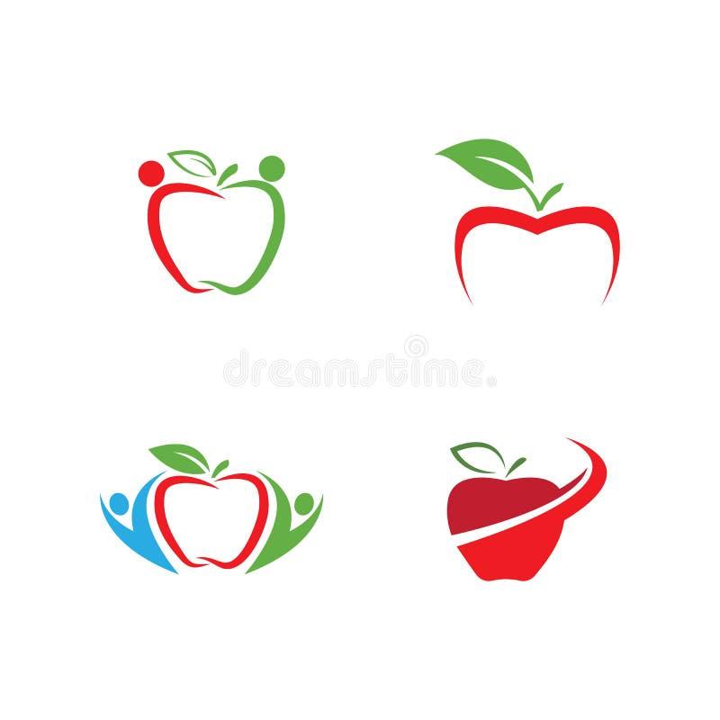 Vers appelembleem vector illustratie