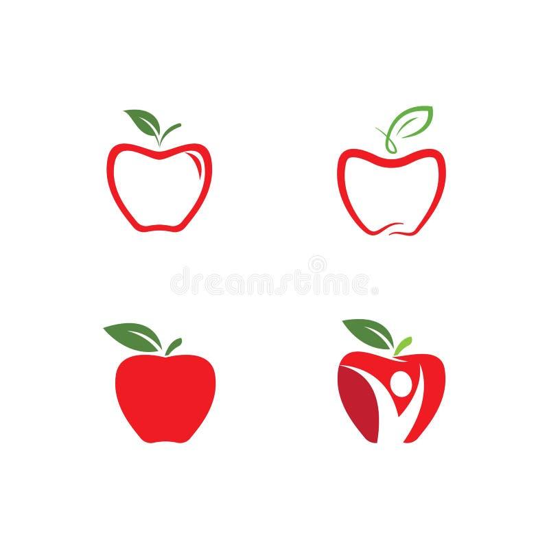 Vers appelembleem stock illustratie