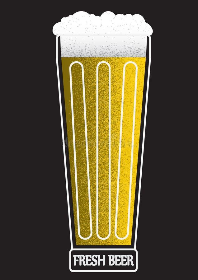 Vers bier vector illustratie