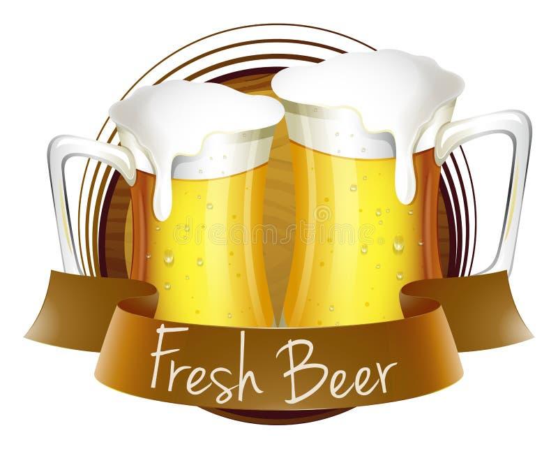 Vers bieretiket vector illustratie
